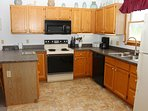 Kitchen has ample cooking area