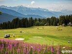 Meribel's 18 hole golf course