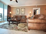Living Room Waterscape Resort A514 Okaloosa Island Fort Walton Beach Vacation Rentals