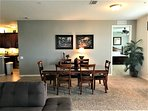 Large, cozy dining area for gourmet meals & view of 50' HDTV
