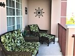Tropical themed wicker lanai furniture