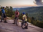 Mountain biking at DuPont State Recreational Forest offers incredible views.