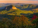 Looking Glass Rock in Pisgah National Forest.