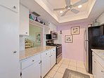 Fully equipped kitchen with plenty or room to cook-in or entertain with take out