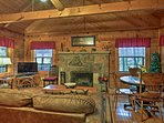 Classic cabin decor welcomes you to the region!