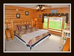 2 of 5 bedrooms - king bed - crib - main level