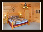 1 of 5 bedrooms - master bedroom - king bed - main level