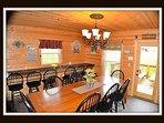 dining room - door to back deck - main level