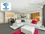Super Entertainment Apt, It has 3 separate Foxtel/Sports systems, one in lounge and each bedroom.