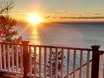Sunrise from the deck.