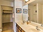 Rinse off in the shower in the en-suite bathroom!