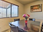Enjoy home-cooked meals at the 4-person table.