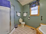 Prepare for a night at Branson Landing with a rinse in the walk-in shower.