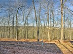 Surrounded by the beautiful Ozark wilderness, this home is peaceful and private.