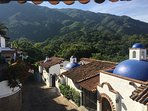 Epic views of the Sierra Madres  from the balcony.