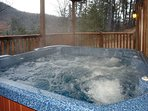Another Day in Paradise huge hot tub