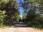 Rails to Trail hiking/biking trail. Free bikes available onsite.