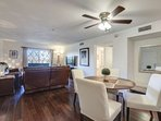 The kitchen, dining area and living room have a great open floor plan that makes living easy!