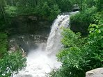 Minnehaha Falls is within 0.7 miles a from our Airbnb. The park has 10 miles of hiking trails