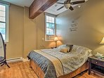 Enjoy slumbers on the queen bed in the first bedroom.