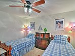 Two twin beds complete this fourth bedroom.