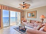 Enjoy ocean views through the sliding glass door.