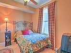 The third bedroom offers a comfy full bed.