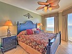 Wake up to ocean views in this king bed!