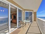 Step out on the private balcony to take in the ocean views and breeze!