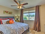 You're ensured a restful night on the queen bed in the master bedroom.