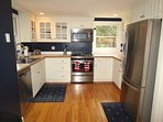 All new, fully equipped kitchen makes meal prep easy and gratifying. Dining room not shown.