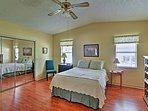 This spacious bedroom sleeps 2 on the queen bed.
