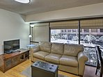 This unit can sleep up to 3 and boasts beautiful hardwood floors and wraparound windows.