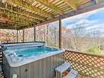 Soak your aches and pains away in the hot tub.