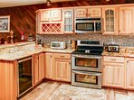 The kitchen has everything you need to make your favorite meals.