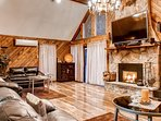 Cozy up next to the gas fireplace and watch your favorite shows.