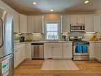 Whip up a beach picnic in the spacious kitchen.