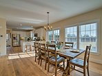 Share meals at the formal dining table.