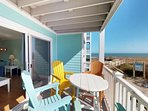 Great views, plenty of seating on the deck and you can't get any closer to the beach access.