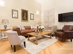 A rare gem for a vacation rental in central Nice, its luxurious charm is a delightful surprise.