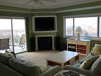 Living Room Seating with view to bay