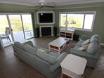 Large Living Room with HD TV Theater Sound