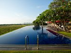 Sanur Residence - View across the pool towards Sanur
