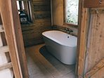 Each dome has a wooden ensuite with flushing loo
