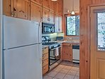 The kitchen is fully equipped for all of your home-cooking needs.