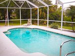 Enjoy your private heated, screened pool.