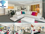 Super Entertainment Apt, It has 3 separate Foxtel/Sports systems, one in lounge & each bedroom.