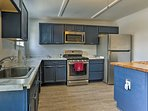 You'll find everything you need for a comfortable stay including a fully equipped kitchen.