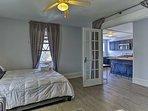 Create additional sleeping accommodations with the sleeper sofa.