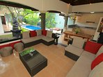 Alfresco Kitchen, Dining and Lounge area overlooking pool